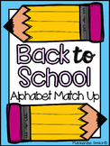 Back To School Alphabet Match Up