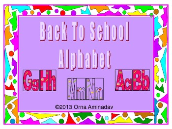 Back To School Alphabet-Red