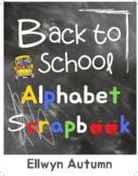 Back To School Alphabet Scrapbook
