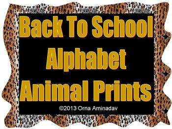 Back To School Alphabet- Wild Animal Prints