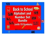 Back To School Alphabet and Numbers with Symbols Bundle Set