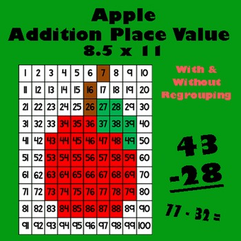 Back To School Apple Addition Math Mystery Picture - 8.5x11 - Harvest & Fall