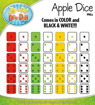 Apple Dice Clip Art Set — Over 40 Graphics!