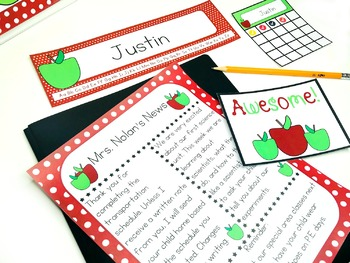 Editable Apple Theme Classroom Decor ~ Hundreds of Pages of Apple Decor!