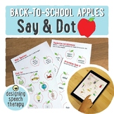 Back To School Apples Dot Activity for Speech and Language