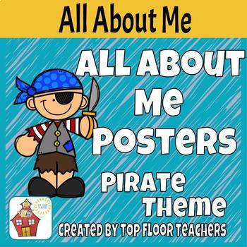 """Back To School """"Argh"""" All About Me Poster- Pirate Theme"""