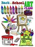 School Art Class Clipart (Embellish Yourself Artworks)