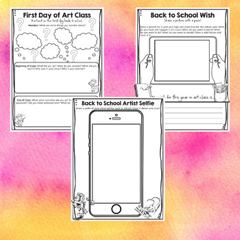 Back To School Art Classroom Activities
