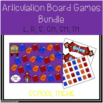 Back To School Articulation Board Games BUNDLE