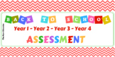 Back To School Assessment Year 1 to Year 4 Bundle