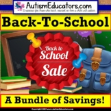 Back To School Assessments and Activities BUNDLE for Speci