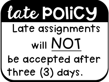 Back To School: Assignment Procedure Signs