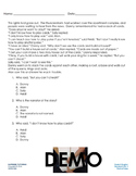 Back To School - Augmented 3rd Grade English Worksheet - Point of View