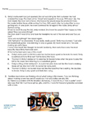 Back To School - Augmented 3rd Grade English Worksheet - Recounting Stories
