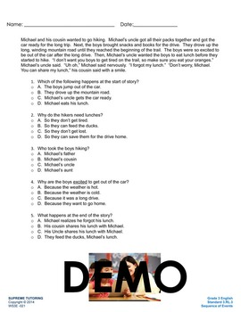Back To School - Augmented 3rd Grade English Worksheet - S