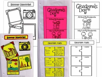 Back To School / August - September Holidays Interactive Notebook