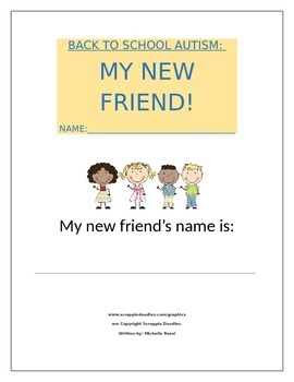 Back To School Autism: My New Friend