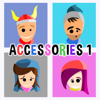 Back To School - Avatars With Accessories 1 Clipart