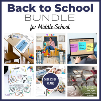 Back To School BUNDLE - ALL 6 of my Back to School Resources!