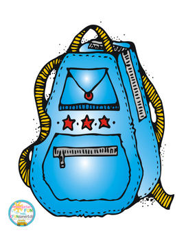 Back To School Backpack Math Activity & Center For Pre-K, K, 1st, & special ed