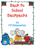 Back To School Backpack Math Activity & Center For Pre-K,