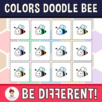 Back To School - Basic Colors With Doodle Bee Clipart