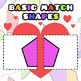 Back To School - Basic Match Shapes Clipart