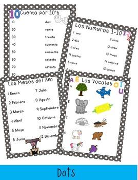 Back To School Basics SPANISH Version : Classroom Posters