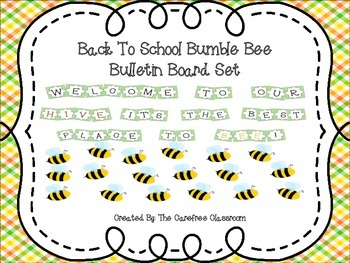 Bulletin Board Set: Back To School Beehive