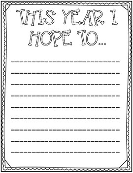 Back To School Beginning Of The Year Memory & Goal Book