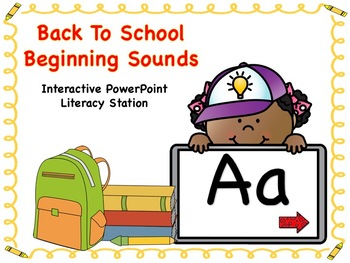 Back To School Beginning Sounds Set 1