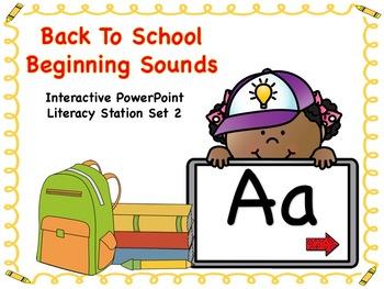 Back To School Beginning Sounds Set 2