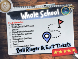 Back To School : Bell Ringers & Exit Tasks
