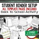 Back To School Bell work, Bellringer, Warm-Up Template