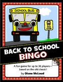 Back To School Bingo Game - for up to 36 players!