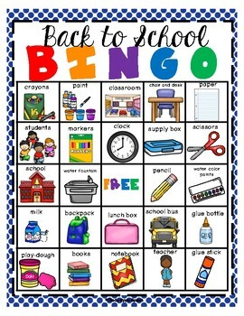 Back To School Bingo