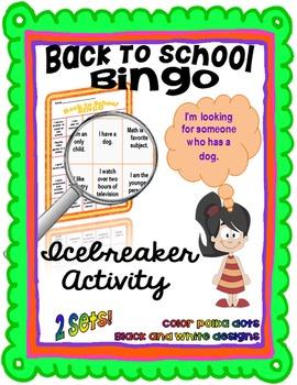 Back To School Bingo:  Icebreaker Activity