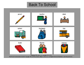 Back To School Bingo! Multiple Boards [speech therapy and autism]