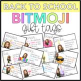 Back To School Bitmoji Gift Tags (Editable)