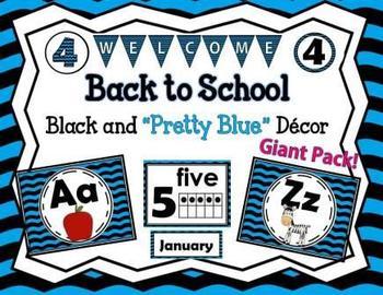 Black and Blue Classroom Decor