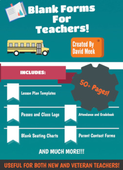 Back To School Blank Teacher Forms and Templates!