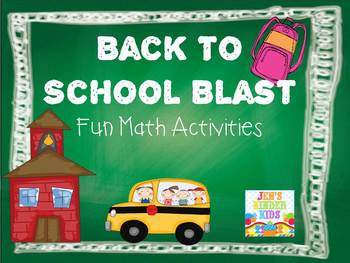 Back To School Blast {First Grade Math Unit}