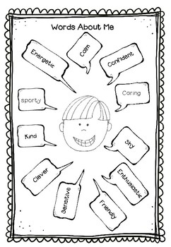 Back To School Bobbleheads - a print and go glyph activity