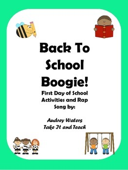 Back To School Boogie First Day Song and Activity Sheets