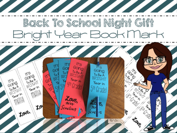 Back To School Book Mark Bright Year Freebie
