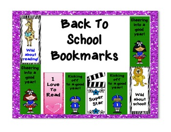 Bookmarks: Perfect for back to school!
