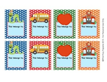Back To School Bookplate Labels