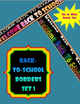 Back-To-School Borders- Set 1