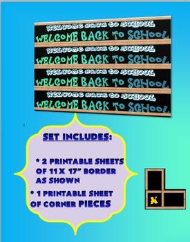Back-To-School Borders- Set 3