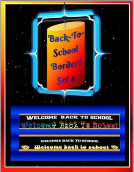 Back-To-School Borders- Set 4
